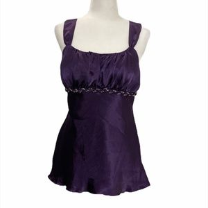 Iz Byer dressy sleeveless top -eggplant - XL - NWT